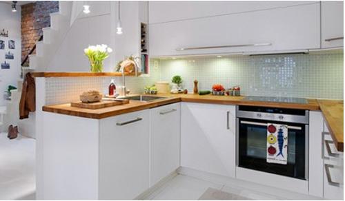 厨房也可以小清新——简约风格橱柜效果图欣赏