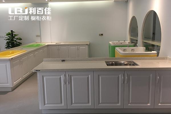 长沙利百佳橱柜品牌|和悦家月子会所操作台案例分享