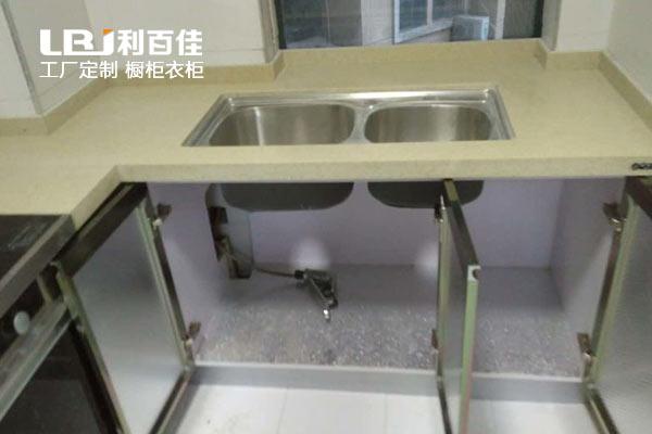 利百佳橱柜品牌∣名都花园厨房改造精钢橱柜案例分享