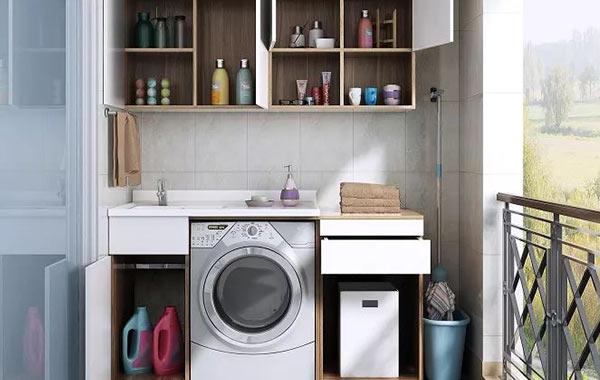 长沙网友晒图,阳台洗衣机组合柜更受欢迎