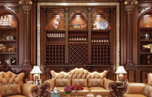 长沙实木酒柜定做,这套法式风格不仅仅是好看