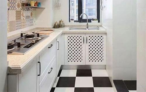 小户型厨房L型橱柜这样设计,空间更大化利用