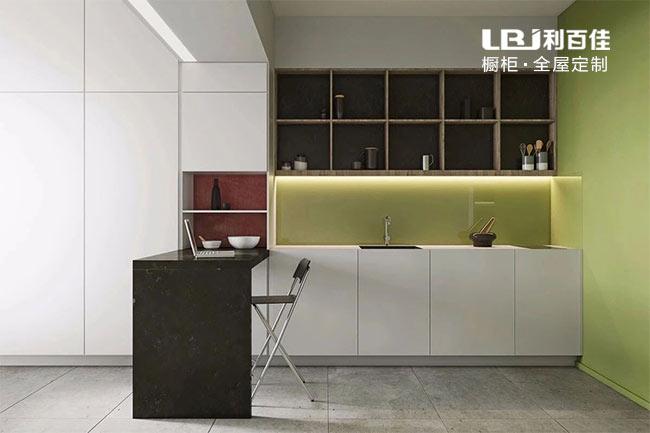 绿色系厨房橱柜定做,真的不要太漂亮